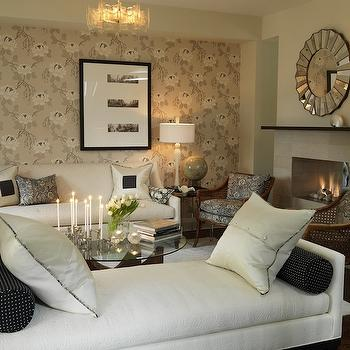 White Settee, Transitional, living room, ICI Dulux French White, Sarah Richardson Design