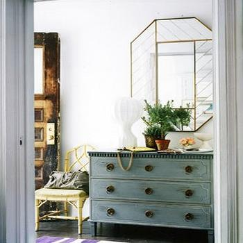 Faux Bamboo Chest Transitional Entrance Foyer Chango