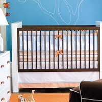 Beds/Headboards - serena and lily crib - crib, blue, orange, white, modern,