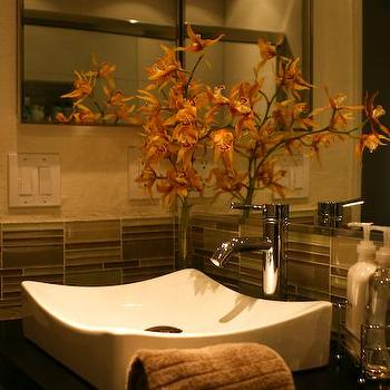 Green Glass Tiles, Contemporary, bathroom, HGTV