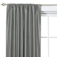 Window Treatments - Faux Silk Window Panel - Mouse (54x84 - drapes