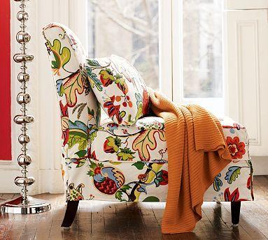 Brooks Slipcovered Chair Pottery Barn