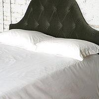 Beds/Headboards - UrbanOutfitters.com > Velvet Tufted Headboard - Pewter - headboard