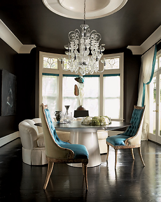 Dining Room on Turquoise Dining Chair   Eclectic   Dining Room   Jill Vantosh