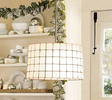 Home - Capiz Pendant | Pottery Barn - capiz chandelier