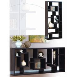 Unique Wood Bookcase/ Display Cabinet from Overstock.