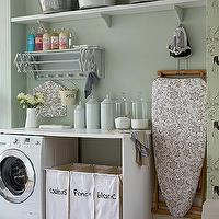 laundry/mud rooms - laundry room, laundry room ideas, laundry room sorter, laundry bins, laundry sorter, vintage laundry room,  charming laundry