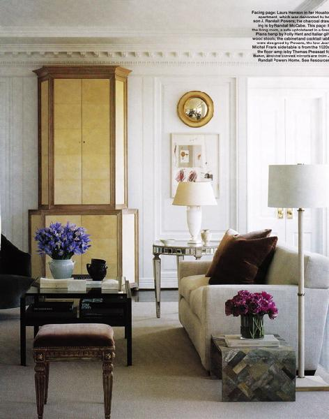 gold armoire contemporary living room