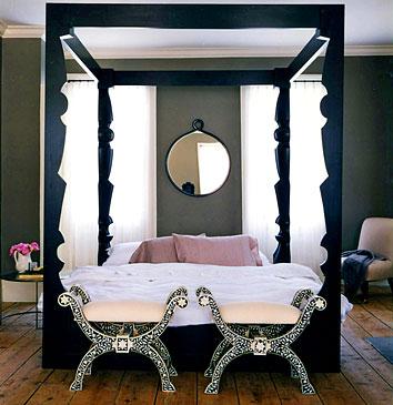 Bone Inlay Stools Contemporary Bedroom Benjamin