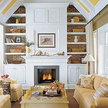 Fireplace Built Ins, Cottage, living room