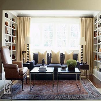 Navy Blue Sofa, Transitional, living room, Sloan Mauran Interior Design