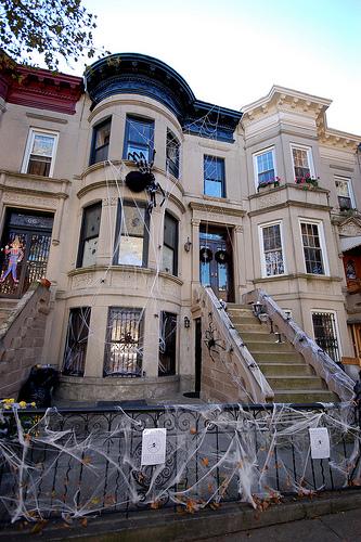 Exterior Halloween Decor Transitional Home Exterior