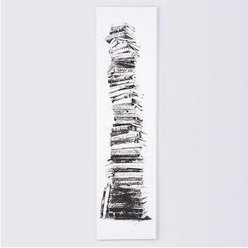 Art/Wall Decor - Stacked Books Stretched Canvas Artwork | Pottery Barn - wall