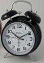Decor/Accessories - Twin Bell (Black) quartz alarm clock - clock