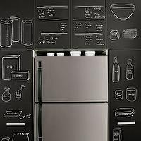 kitchens - fridge, chalkboard cabinets, chalkboard, kitchen chalkboard, kitchen chalkboard ideas, chalkboard door, chalkboard kitchen, chalkboard in kitchen, chalkboard kitchen cabinets,