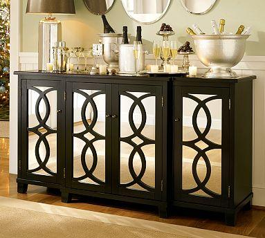 Terrace Mirrored Buffet Pottery Barn