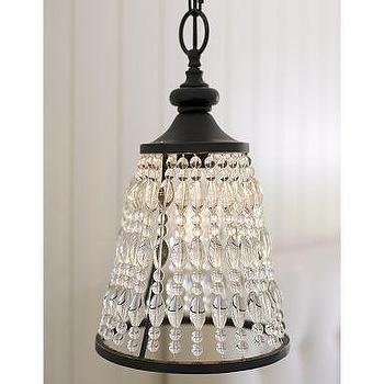 Lighting - Helena Mini Crystal Pendant | Pottery Barn - pendant, lighting
