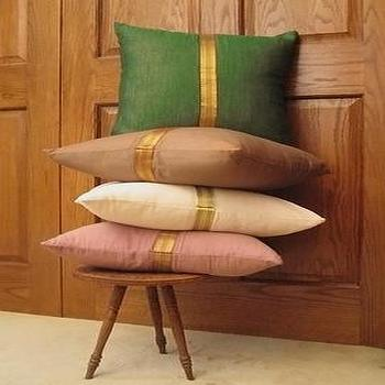 Pillows - Sari Border Pillows - pillow