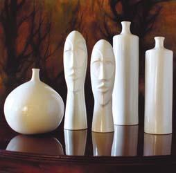 Decor/Accessories - Totem Ceramic Collection - white, ceramic, vase, table, decor