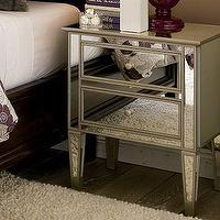 Storage Furniture - Park Mirrored Bedside Table | Pottery Barn - mirrored nightstand
