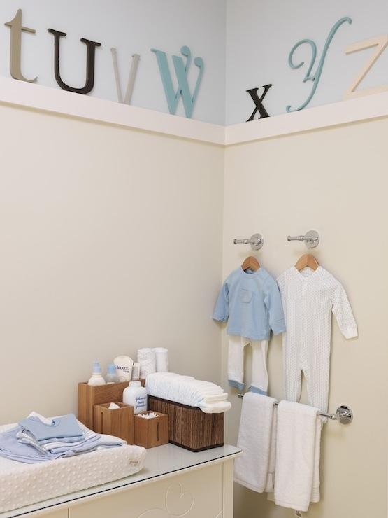 cream boy's room nursery