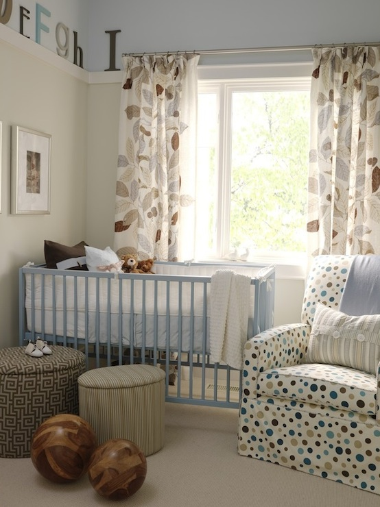 Cute boy's nursery! Blue beige boy's room! Blue