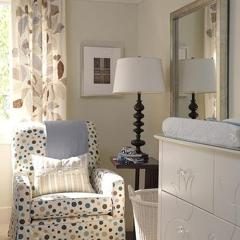 Tan and Blue Nursery, Transitional, nursery, ICI Dulux Cloud Nine, Sarah Richardson Design