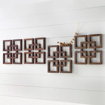 overlapping-squares wood wall art | west elm