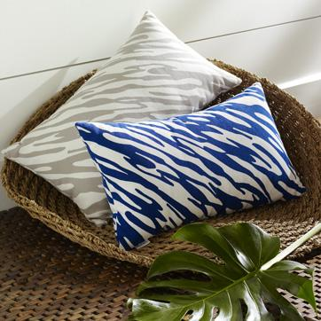 Pillows - ripple outdoor pillow | west elm - pillow, gray, white, blue, west, elm, outdoor