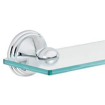 Bath - Moen DN8490CH Preston Glass Shelf, Chrome - PlumberSurplus.com - Chrome, Glass, Shelf