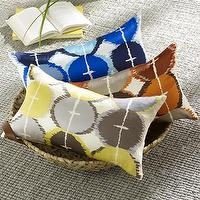 Pillows - tamarind-print pillow cover | west elm - gray, white, yellow, pillow
