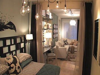 Light Bulb Chandelier - Contemporary - bedroom - Candice Olson