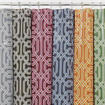 Bath - $10 - Chainlink Vinyl Shower Curtain - Pottery Barn - shower, curtain, vinyl, chainlink, pottery barn