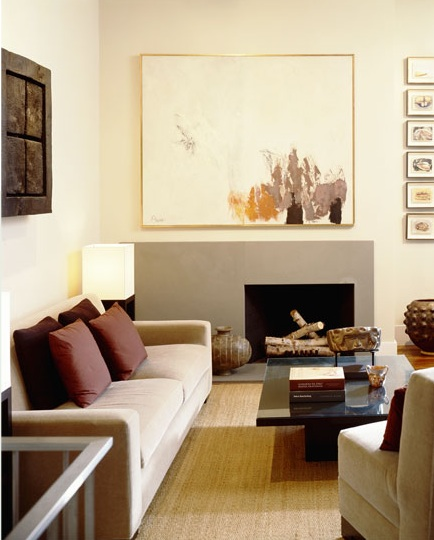Ivory and Gray Living Room