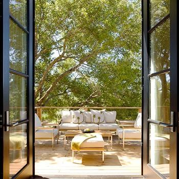 Dowling Kimm Studios - decks/patios - french doors, glass french doors, black french doors, floor to ceiling doors, floor to ceiling french doors, floor to ceiling black french doors, patio doors, modern patio doors,