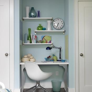 Kids Desk Ideas, Contemporary, boy's room, ICI Dulux Clear Sailing, Sarah Richardson Design