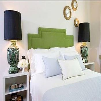 Green Headboard, Contemporary, bedroom, Samantha Pynn