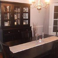dining rooms - Behr Manhattan Mist, silver, black,  silver and black dining room