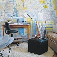 dens/libraries/offices - map wallpaper, map wallpaper accent wall, accent wall, office accent wall,  Cool map idea  Wall map, butterfly chair