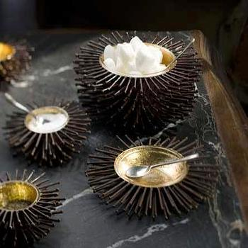 Mothology, The Science of Style, Iron and Goldleaf Sea Urchin Bowls