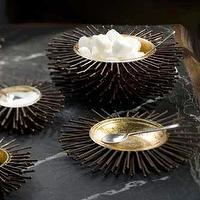 Decor/Accessories - Mothology - The Science of Style - Iron and Goldleaf Sea Urchin Bowls - bowls