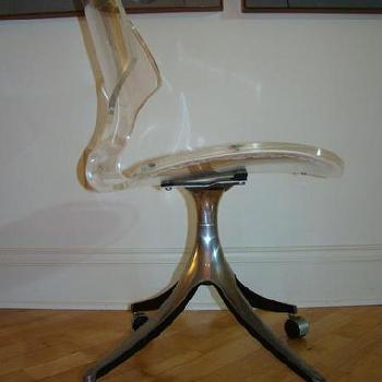 HOLLYWOOD REGENCY KARL SPRINGER LUCITE CHAIR EAMES ERA, eBay (item 110322041879 end time Dec-14-08 19:00:32 PST)