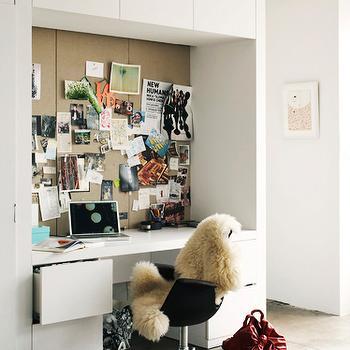 Built In Office Desk, Contemporary, den/library/office