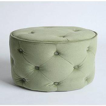 Seating - UrbanOutfitters.com > Lana Velvet Pouf - green, tufted, velvet pouf