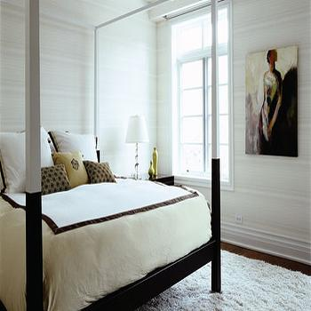 Black and White Bed, Contemporary, bedroom