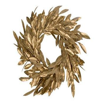 Miscellaneous - Jayson Home & Garden :: GOLD BAY LEAF WREATH - wreath, gold
