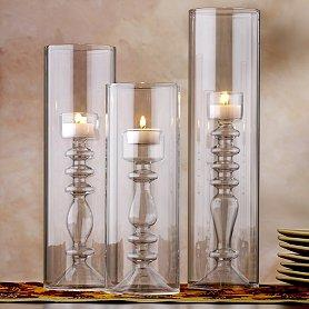 Lighting - Calista Glass Cylinder Tealight Holders at World Market - Candle holders