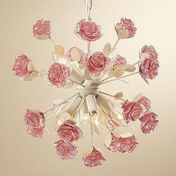 Lighting - Rose Chandelier - Rose Pendant Chandelier Closet