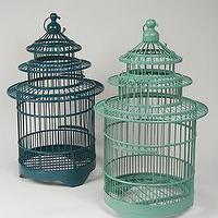 Decor/Accessories - Rose and Radish - Wetter Indochine Pagoda Birdcage, Small - pagoda birdcage