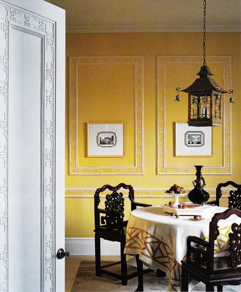 Dining room with yellow chairs modern diy art design for Yellow dining room ideas